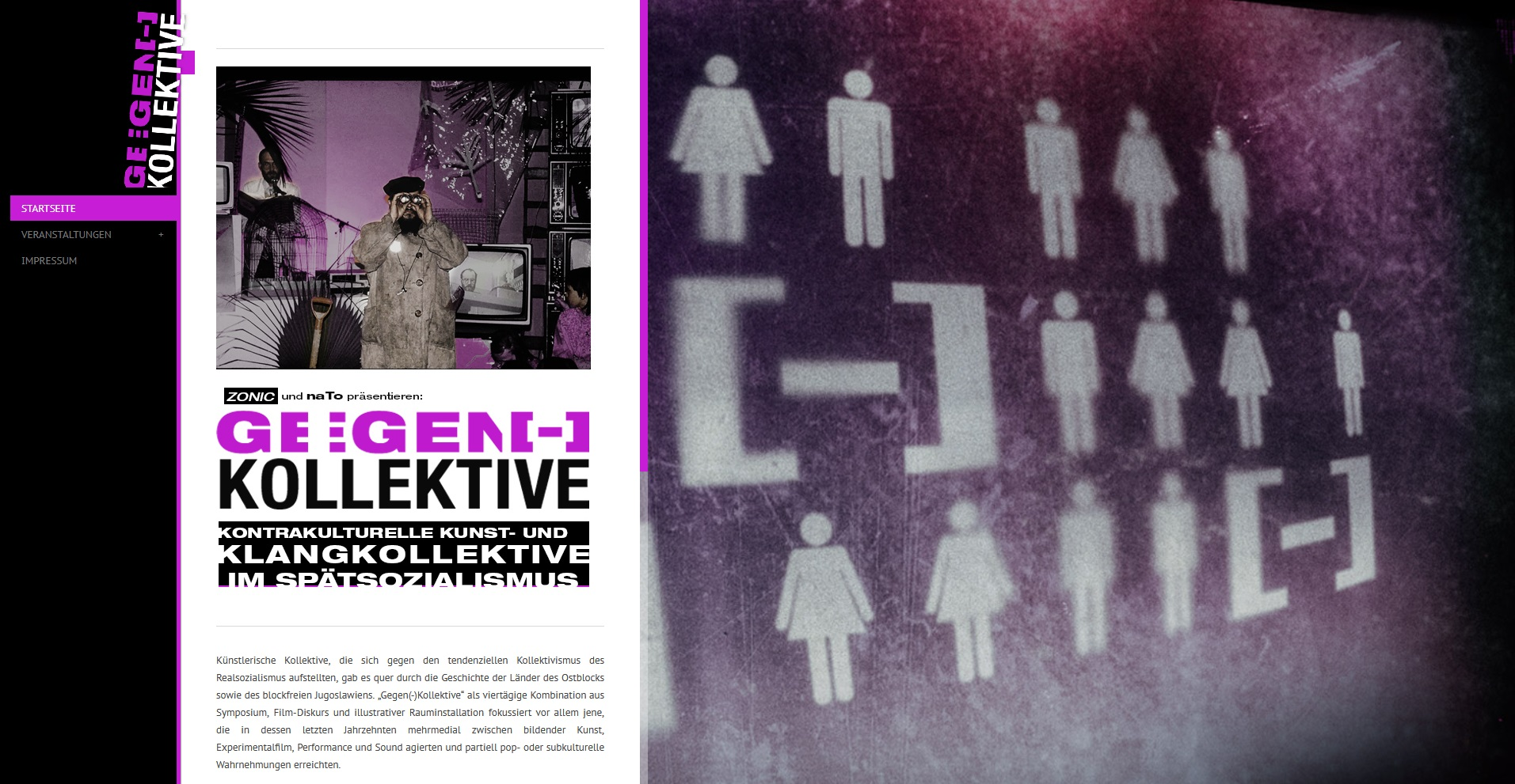Vorschau auf die Startseite der Homepage von Gegen(-)Kollektive. Durch Klicken erfolgt eine Weiterleitung auf die Homepage.